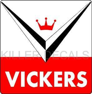 12 VICKERS GASOLINE GAS PUMP OIL TANK DECAL by Total