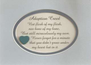 ADOPTION CREED sons daughter HEART verses poems plaques