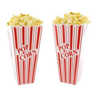 Popcorn Reusable 3 x 8 Plastic Popcorn Containers