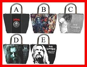 Rob Zombie Metal Rock Rare Bucket Bag Handbag #PICK1