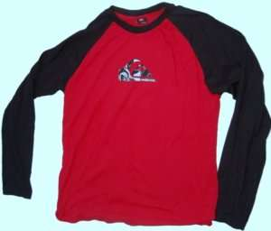 NWT Quiksilver Bench Press Baseball Tee Shirt Large L
