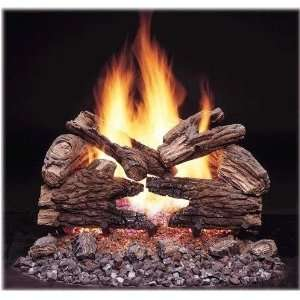 Vented Propane Gas Log Set With Manual Safety Pilot
