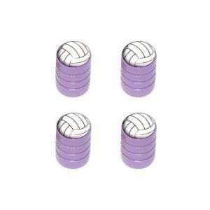 Volleyball   Sport Tire Rim Valve Stem Caps   Purple
