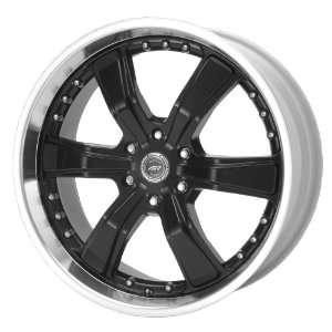 American Racing Razor AR300 Gloss Black Wheel with Machined Lip (22x9