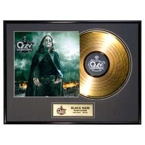 Ozzy Osbourne Black Rain framed gold record