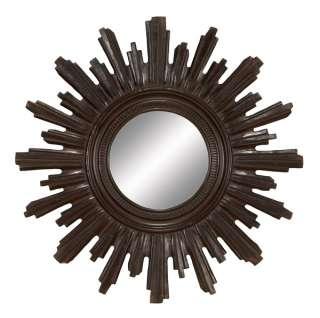 Tuscan Old World Sunburst Wood Wall Mirror