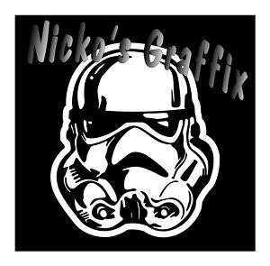 Star Wars Storm Trooper Decal Sticker Car Window Helmet
