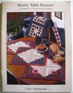 MOSTLY TABLE RUNNERS Softcover Quilt Book   12 Classic Patterns