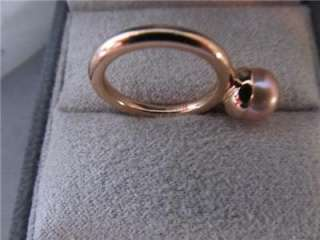 Tiffany & Co. Iridesse 18K Rose Gold High Luster Cultured Pearl Ring 5