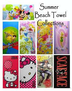 /Princess/TinkerBell/Toy Story/Pooh/Hello Kitty Beach Towel 30x60
