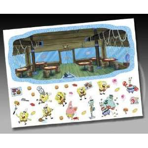 SPONGEBOB SQUAREPANTS boy kid WALL MURAL stickers decor