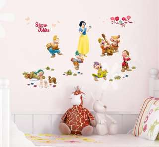 Snow White Adhesive Removable WALL Decor STICKER DECAL