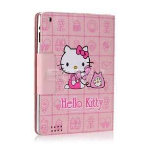 Ecell   PINK PHONE HELLO KITTY LEATHER CASE & STAND FOR